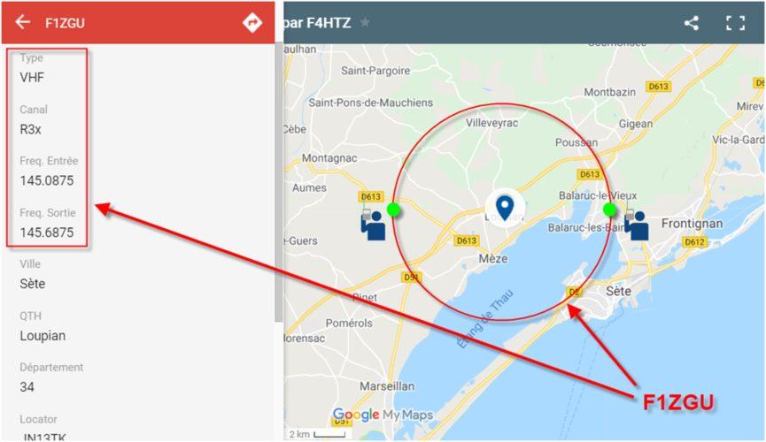Localisation relais portée