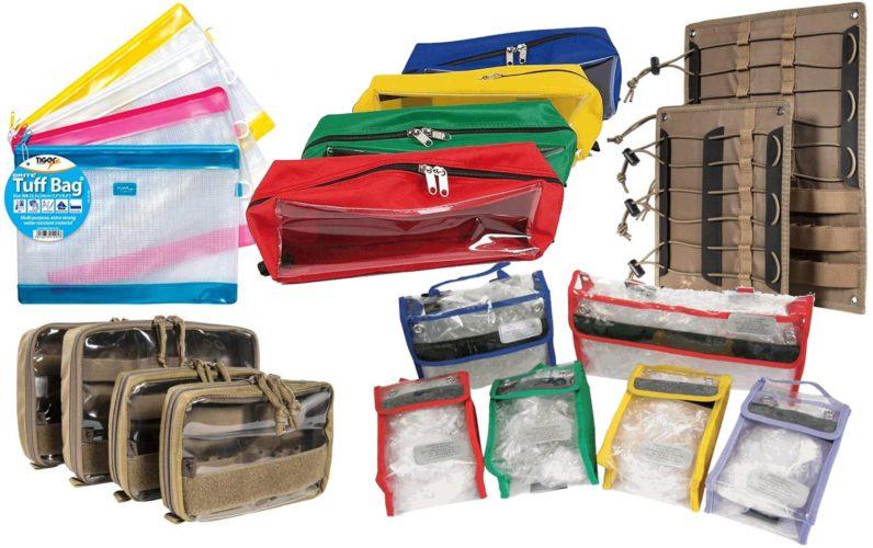 Sac d'intervention et secours : Aménagements Compartimentages cloisons sac intervention secours