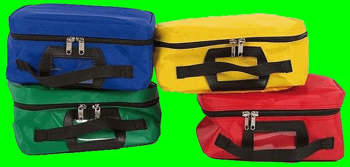 Sac d'intervention et secours : pochette couleurs de rangement premiers secours