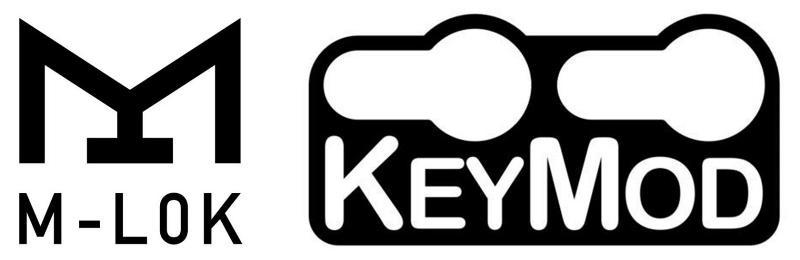 Garde mains M-LOK vs Keymod